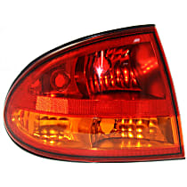 Driver Side Tail Light, Without bulb(s) - Amber & Red Lens