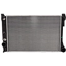 Aluminum Core Plastic Tank Radiator, 25.19 x 17.25 x 1.25 in. Core Size