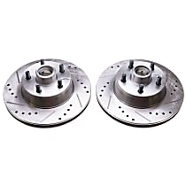 AR8102XPR Evolution Drilled & Slotted Series Front Driver and Passenger Side Brake Disc