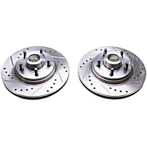 AR8118XPR Evolution Drilled & Slotted Series Front Driver and Passenger Side Brake Disc