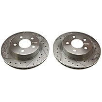 AR8121XPR Evolution Drilled & Slotted Series Rear Driver And Passenger Side Brake Disc