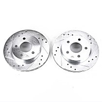AR8137XPR Rear Drilled, Slotted and Zinc Plated Brake Rotors
