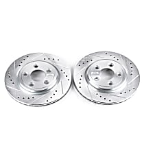 AR8162XPR Rear Drilled, Slotted and Zinc Plated Brake Rotors