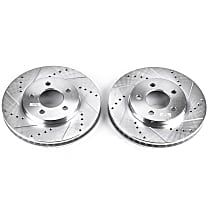 Power Stop® AR8173XPR Front Drilled, Slotted and Zinc Plated Brake Rotors