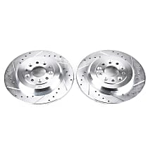 AR8180XPR Rear Drilled, Slotted and Zinc Plated Brake Rotors