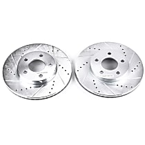 AR82004XPR Front Drilled, Slotted and Zinc Plated Brake Rotors