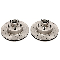 AR8208XPR Front Drilled, Slotted and Zinc Plated Brake Rotors