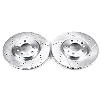 Power Stop® AR82108XPR Front Drilled, Slotted and Zinc Plated Brake Rotors