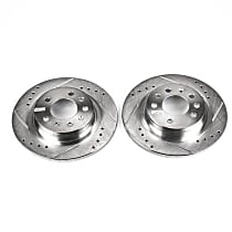 Power Stop® AR82109XPR Rear Drilled, Slotted and Zinc Plated Brake Rotors