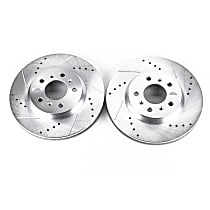 AR82110XPR Front Drilled, Slotted and Zinc Plated Brake Rotors
