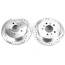 AR82111XPR Rear Drilled, Slotted and Zinc Plated Brake Rotors