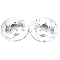 AR82112XPR Front Drilled, Slotted and Zinc Plated Brake Rotors