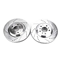 AR82121XPR Front Drilled, Slotted and Zinc Plated Brake Rotors