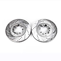 AR82131XPR Front Drilled, Slotted and Zinc Plated Brake Rotors