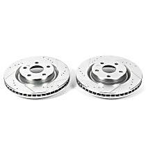 Power Stop® AR82138XPR Front Drilled, Slotted and Zinc Plated Brake Rotors