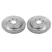 Power Stop® AR82143XPR Rear Drilled, Slotted and Zinc Plated Brake Rotors