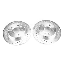 Power Stop® AR82178XPR Rear Drilled, Slotted and Zinc Plated Brake Rotors