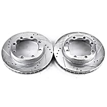 AR8242XPR Front Drilled, Slotted and Zinc Plated Brake Rotors