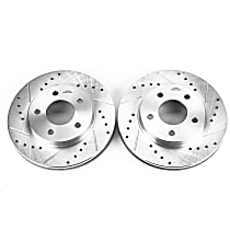 AR8268XPR Front Drilled, Slotted and Zinc Plated Brake Rotors