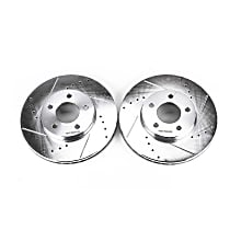 AR8269XPR Front Drilled, Slotted and Zinc Plated Brake Rotors