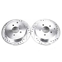 AR8270XPR Rear Drilled, Slotted and Zinc Plated Brake Rotors