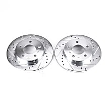 AR8286XPR Rear Drilled, Slotted and Zinc Plated Brake Rotors