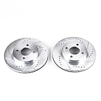 Power Stop® AR8288XPR Front Drilled, Slotted and Zinc Plated Brake Rotors