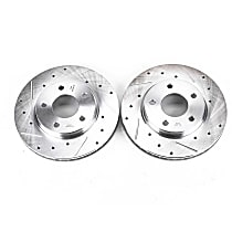 Power Stop® AR83068XPR Front Drilled, Slotted and Zinc Plated Brake Rotors