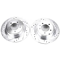 Power Stop® AR83069XPR Rear Drilled, Slotted and Zinc Plated Brake Rotors