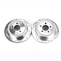 AR83072XPR Rear Drilled, Slotted and Zinc Plated Brake Rotors