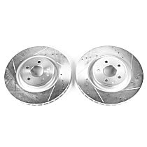 Power Stop® AR83080XPR Front Drilled, Slotted and Zinc Plated Brake Rotors
