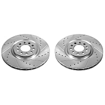 Power Stop® AR83087XPR Front Drilled, Slotted and Zinc Plated Brake Rotors