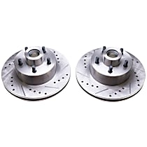 AR8322XPR Evolution Drilled & Slotted Series Front Driver And Passenger Side Brake Disc