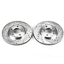 AR8350XPR Front Drilled, Slotted and Zinc Plated Brake Rotors