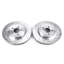 Power Stop® AR8359XPR Front Drilled, Slotted and Zinc Plated Brake Rotors