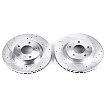 AR8369XPR Front Drilled, Slotted and Zinc Plated Brake Rotors