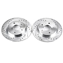 Power Stop® AR8380XPR Rear Drilled, Slotted and Zinc Plated Brake Rotors