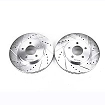 AR85103XPR Front Drilled, Slotted and Zinc Plated Brake Rotors
