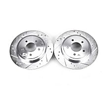 Power Stop® AR85104XPR Rear Drilled, Slotted and Zinc Plated Brake Rotors