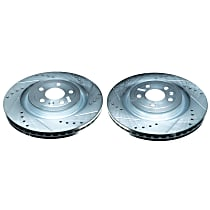 AR85141XPR Front Drilled, Slotted and Zinc Plated Brake Rotors