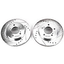Power Stop® AR8532XPR Front Drilled, Slotted and Zinc Plated Brake Rotors