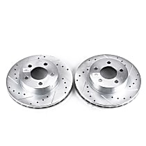 AR8554XPR Front Drilled, Slotted and Zinc Plated Brake Rotors