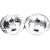 Power Stop® AR8587XPR Rear Drilled, Slotted and Zinc Plated Brake Rotors