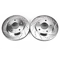 AR8606XPR Front OR Rear Drilled, Slotted and Zinc Plated Brake Rotors