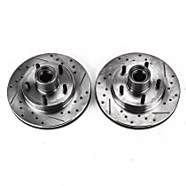 AR8617XPR Front Drilled, Slotted and Zinc Plated Brake Rotors