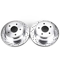 AR8636XPR Rear Drilled, Slotted and Zinc Plated Brake Rotors