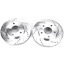 AR8638XPR Front Drilled, Slotted and Zinc Plated Brake Rotors