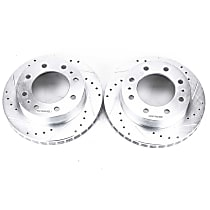 AR8642XPR Front Drilled, Slotted and Zinc Plated Brake Rotors