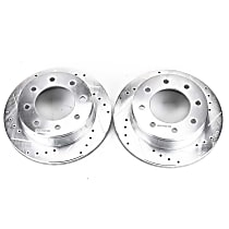 AR8643XPR Rear Drilled, Slotted and Zinc Plated Brake Rotors