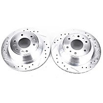 AR8647XPR Rear Drilled, Slotted and Zinc Plated Brake Rotors